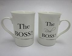 the boss set of 2 wedding mugs the ideal wedding gift ensuring everyone knows whos boss