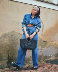 How to wear all denim | For more style inspiration visit 40plusstyle.com
