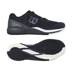 8d24dd94 Wilson Rush Pro 3.0 Men's Tennis Shoes Black All Court Racquet Racket  WRS325530 #Wilson