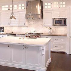 white cabinets, white backsplash