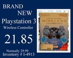 Brand New Playstation 3 Wireless Controller for 21.85. Was 29.99. Call 618-244-0291 for payment & shipping options or come in & see us