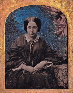 1/9th-Plate Tinted Ambrotype, Circa 1859