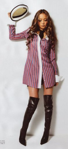 Picture of Amuro Namie Mommy Style, Gyaru, Cool Boots, Sexy Asian Girls, Love Fashion, Mommy Fashion, Fashion Styles, These Girls, Asian Beauty