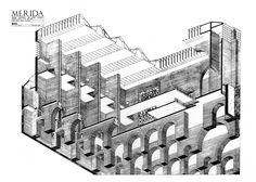 Rafael Moneo  Axonometria+constructiva+seccionada_Museo+Nacional+...