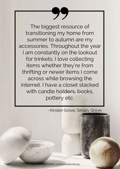 The biggest resource of transitioning my home from summer to autumn are my accessories. Throughout the year I am constantly on the lookout for trinkets. I love collecting items whether they're from thrifting or newer items I come across while browsing the internet. I have a closet stacked with candle holders, books, pottery etc. Read more tips for transitioning your home from summer to autumn here: https://nyde.co.uk/blog/transition-home-summer-autumn/
