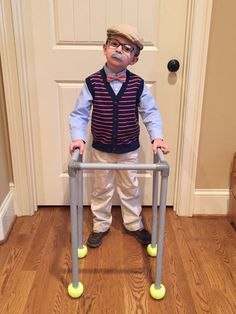 100th Day of School costume.  Toddler Old Man costume.