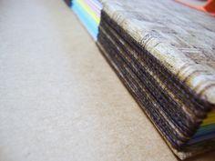 Papiro colorido: longstitch