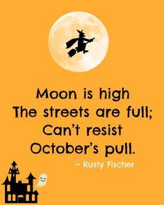 October's pull... A Halloween poem