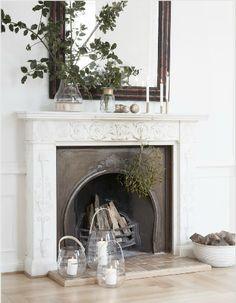 jolie-deco-cheminee-marbre-blanche-ancienne- Le Blog deco de MLC