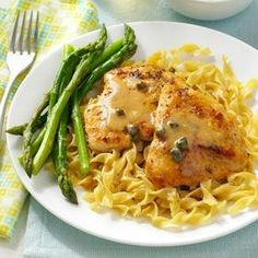 Easy Chicken Piccata Recipe from Taste of Home -- shared by Hannah Williams of Malibu, California