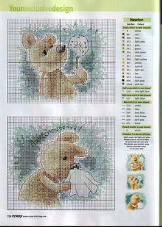 Cross-stitch Tender Bear