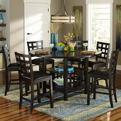 Shop Homelegance  Glendine 7-Piece Counter Height Dining Set at The Mine. Browse our dining sets, all with free shipping and best price guaranteed.