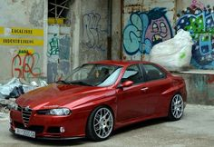 Classic Car News Pics And Videos From Around The World Alfa Romeo 155, Alfa Romeo Cars, Alfa Romeo Giulia, Supercars, Cool Car Pictures, Car Pics, Alpha Romeo, Pretty Cars, Bike Design