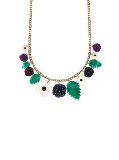 Blackberry Bramble, Tatty Devine, Glitter Acrylics, Flower Necklace, Turquoise Necklace, Jewels, Chain, Flowers, Jewellery