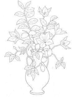 ramilletes de flores pequeñas para colorear - Buscar con Google
