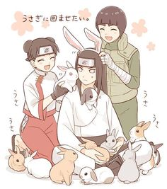 Just Neji with bunnies :)