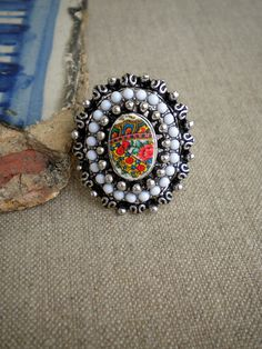 Portugal Viana Folklore Scarf  Ring    European size 18 by Atrio. , via Etsy.
