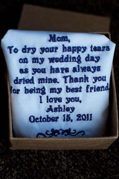 Mother of the bride gift. I want this for my sister instead.
