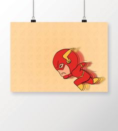 Poster The Flash - Chibi Flash em print