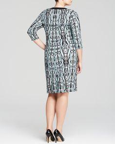 Karen Kane Plus Size Aqua and Black Snake Python Print Dress | Bloomingdale's #Plus_Size #Aqua_and_Black #Snake #Python #Print #Dress #Plus #Size #Womens #Fashion #KarenKane #Plus_Size_Fashion #Bloomingdales