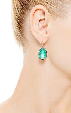 Small Lily Drop Earrings In Green by Larkspur & Hawk for Preorder on Moda Operandi