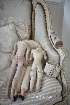 Beautiful antique French sample or dolls corset