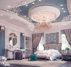 29 Ideas Luxury Bedroom Design Mansions For 2019 Luxury Bedroom Design, Luxury Home Decor, Luxury Interior, Home Interior Design, Luxury Homes, Interior Logo, Interior Plants, Classic Interior, French Interior
