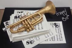 Trumpet 80th Birthday Cake