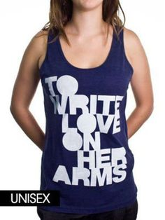 To Write Love On Her Arms Store - Filled Unisex Tank Top Indigo