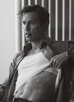 True Detective. Matthew McConaughey as Rust Cohle. -something about his neurotic character.. <3 !!