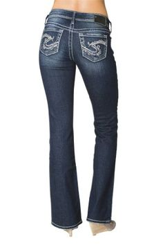 Rhinestone Bling Silver Jeans