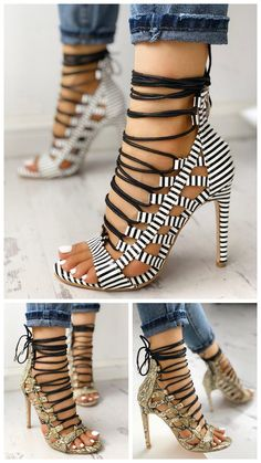 Shop Open Toed Lace-Up Thin Heeled Sandals right now, get great deals at joyshoetique.co.uk.