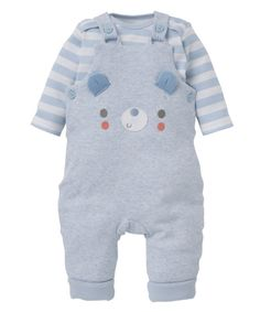 Mothercare Bear Wadded Dungaree Set W2014