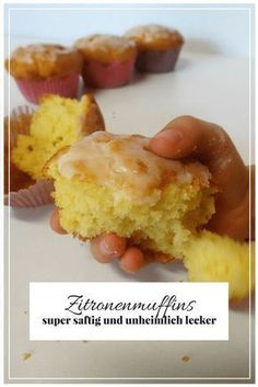 Backen mit Kindern - saftige Zitronenmuffins - Kuchen, Kind und Kegel What do your children like to eat best? Muffins are very popular with my children! Diy Donuts, Baby Snacks, Lemon Muffins, Chocolate Donuts, Baking With Kids, Sweet Cakes, Cake Cookies, Sweet Treats, Food And Drink