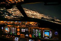 airplane cockpit night - Google Search