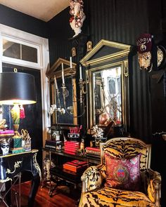 Instagram's Favorite Pretentious Maximalist Shares the Joys of Living Well - 1stDibs Introspective Joy Of Living, Living Room, Living Spaces, Interior Inspiration, Design Inspiration, Maximalist Interior, Dark Interiors, Beautiful Interiors, Eclectic Decor