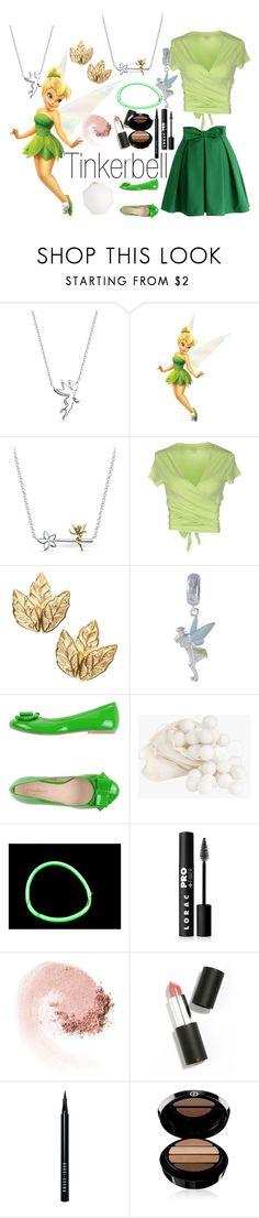 """Tinkerbell~ DisneyBound"" by basic-disney ❤ liked on Polyvore featuring Belk Silverworks, Fathead, Majestic, Jacmel, PrimaDonna, LORAC, NARS Cosmetics, Sigma Beauty, Bobbi Brown Cosmetics and Armani Beauty"
