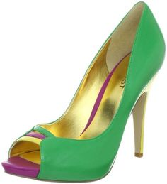Nine West Women's Fastazyou Peep-Toe Pump - Little Shoe Boutique Peep Toe Platform, Peep Toe Pumps, Stiletto Heels, High Heels, Platform Shoes, Cheap Designer Shoes, Cheap Shoes, Shoe Boutique, Wedge Boots