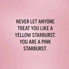 YES! Although I do like yellow Starbursts...