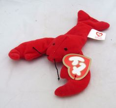 Red Lobster Pinchers TY Teenie Beanie Baby Plush McDonalds Toy Beach Luau  Decor  Ty Luau de24a05af33b