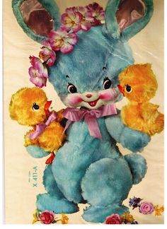 vintage easter--this is actually a decal, had on my daughters crib,early 60's