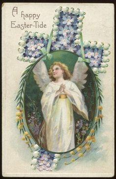 Easter Angel Vintage Postcard circa 1910