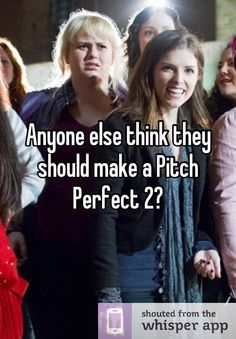 Anyone else think they should make a Pitch Perfect 2?