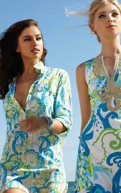 Lilly Pulitzer Captiva Tunic Cover-Up & Janice Shift Dress
