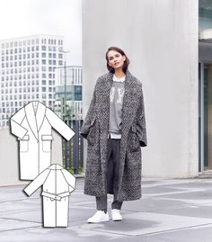 Oversized Coat 10/2015 #103 http://www.burdastyle.com/pattern_store/patterns/oversized-coat-102015?utm_source=burdastyle.com&utm_medium=referral&utm_campaign=bs-meh-bl-150921-SaltAndPepperCollection103