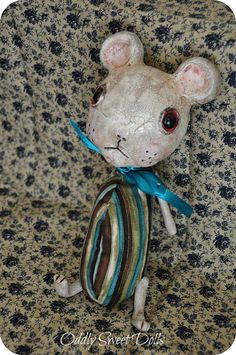 Art Doll TORQ Animal Mouse Mice Primitive Shabby by OddlySweet