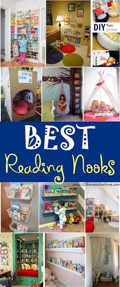 Create a Reading Nook - simple ideas and cool idea to help you create a special place your kids will want to read in! Great way to encourage reading at home and in your homeschool for kids from prek, (Cool Bedrooms For Kids)