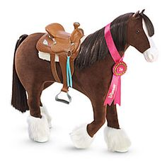 American Girl® Accessories: Prancing Horse & Saddle Set (Got him today!!)