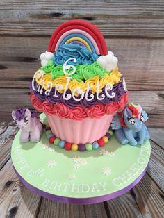 Rainbow Dash My Little Pony giant cupcake.
