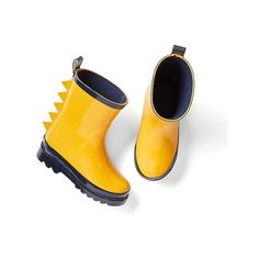 Gap Dino Plate Rain Boots featuring polyvore, women's fashion, shoes, boots, regular, starlight gold, waterproof slip on shoes, waterproof rain boots, water proof boots, waterproof shoes and slip on shoes